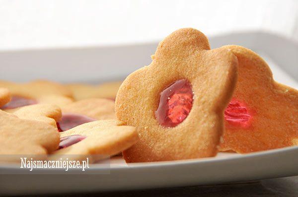 Ciasteczka maślane z galaretką, najsmaczniejsze.pl, ciasteczka maślane, butter cookies, cookies