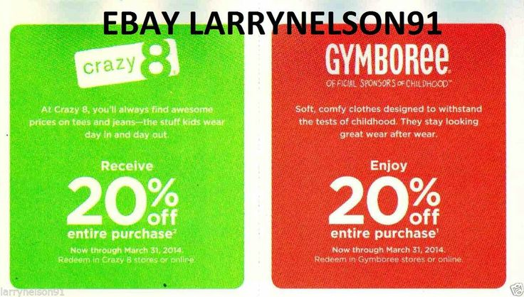 gymboree printable coupon 20 off