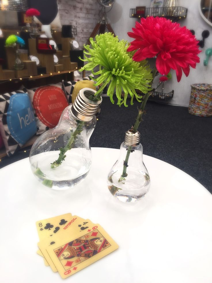 Tipsy & Sober! Super Funky Glass Light Bulb Vases!