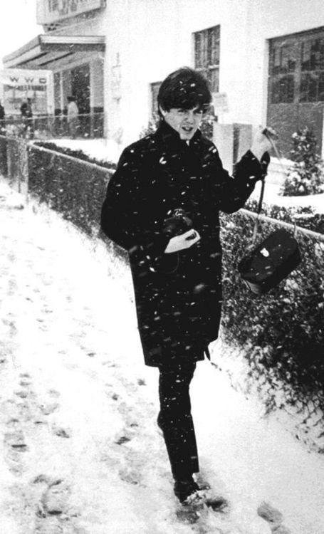 Paul McCartney (in the snow)