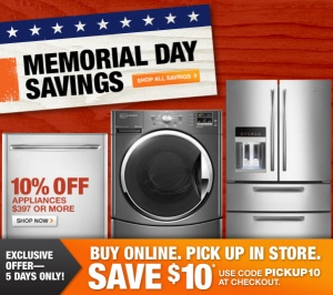 home depot memorial day weekend sale