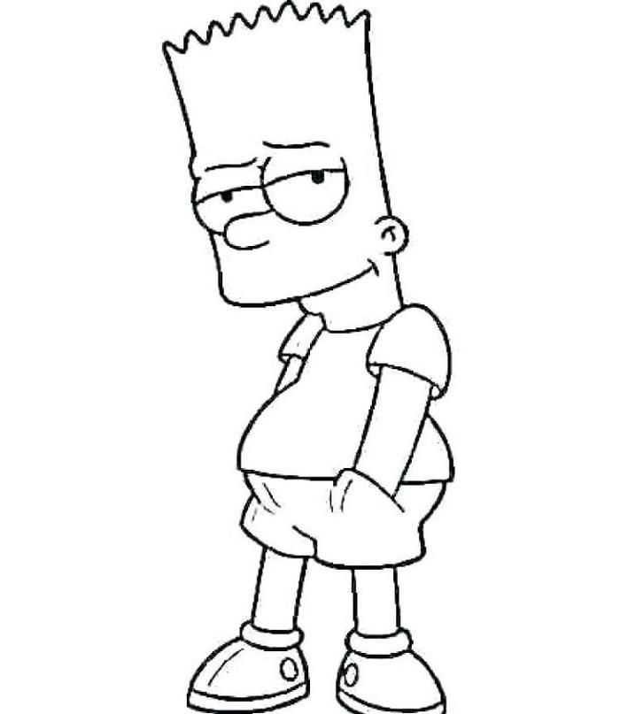 Top 10 Free Printable Simpsons Coloring Pages Online | 807x700