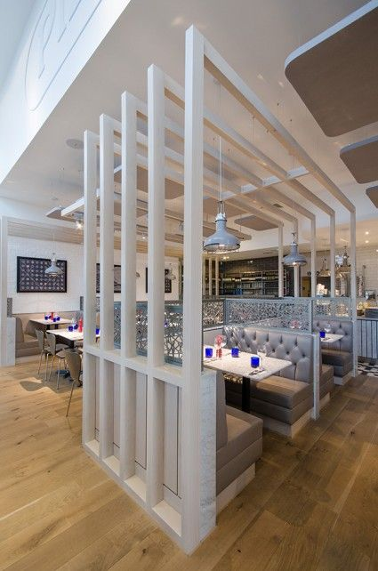 Pizza Express Tamworth: Pavillion seating creates a dining nook #restaurant design