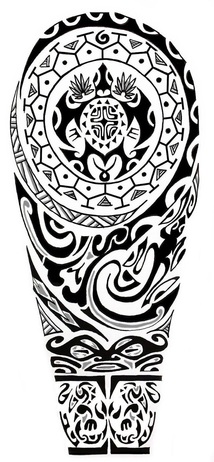 Tatoo kikan #polynesiantattoossleeve #maoritattoosdesigns #maoritattoosturtle