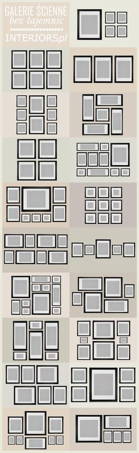 How-to create a perfect wall photo gallery! [Credit: pinterest.com]