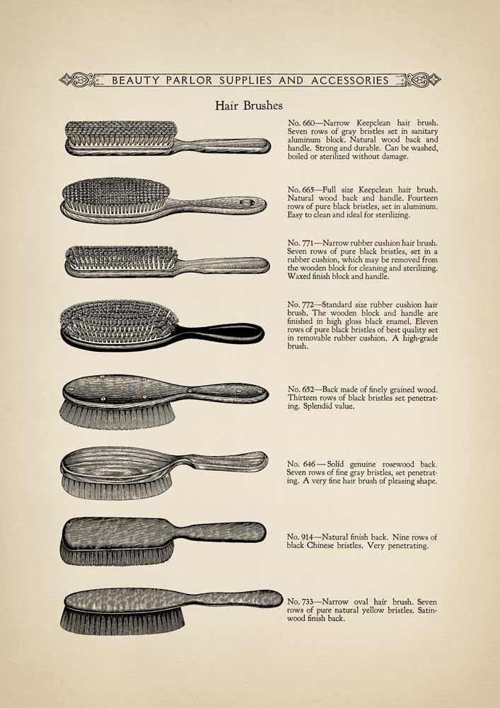 Early 1900s Beauty Parlour Vintage Hair Brushes Reproduction Etsy Vintage Hair Salons Hair Salon Decor Vintage Hairstyles