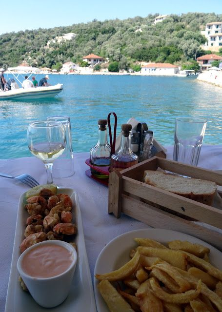 Harbour lunch at Porto Vathi, Meganisi