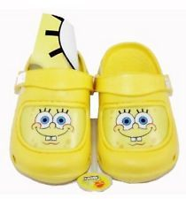 Nickelodeon Spongebob Squarepants Yellow Slipper Crocs/Clogs Baby Toddler Sz 5/6