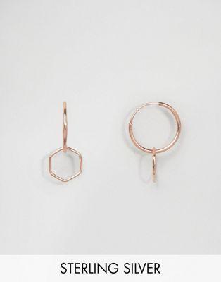 Серебряные серьги-кольца 9 мм с покрытием из розового золота ASOS