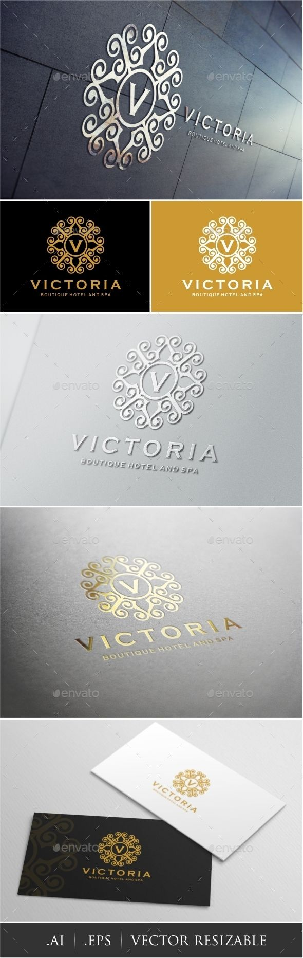 Victoria - Boutique Hotel Spa Logo Template #design #logotype Download: http://graphicriver.net/item/victoria-boutique-hotel-spa-logo/12777587?ref=ksioks