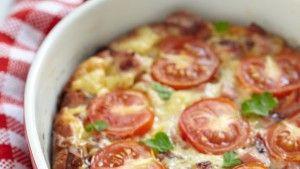 Φριτάτα αλά Ιταλικά με ντομάτα και ζαμπόν