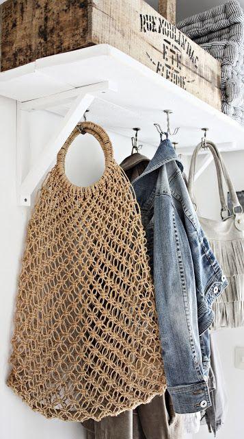 Macrame Bag Inspiration ❥ 4U // hf                                                                                                                                                                                 More