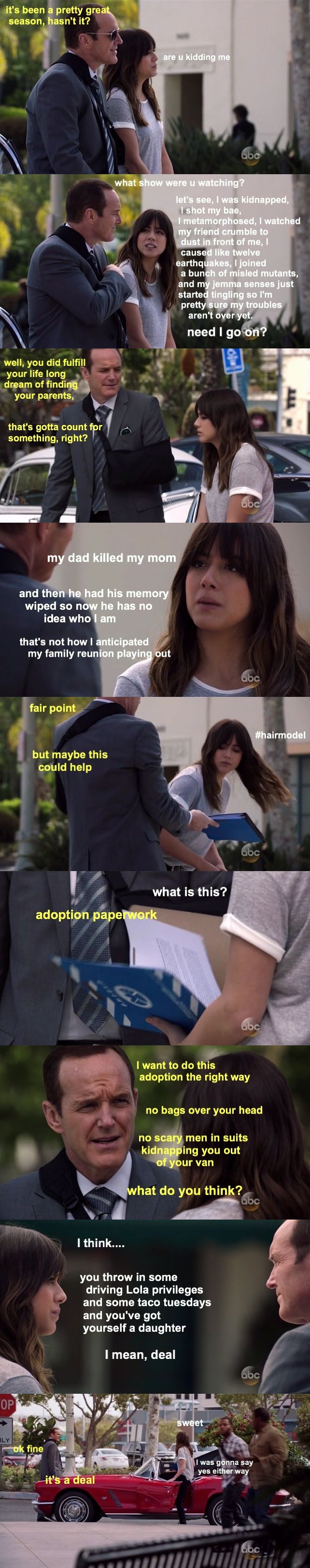 Coulson the dad. No, you don't understand, this is exactly what happened*-*