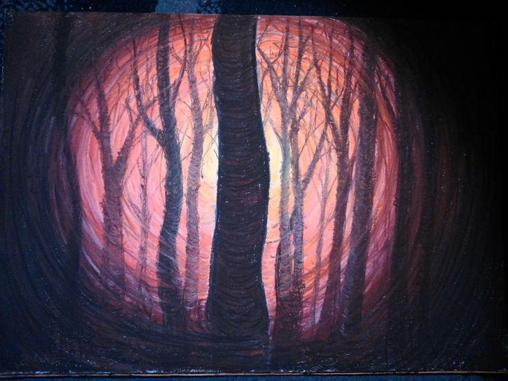 Red Forest  (Pastel)