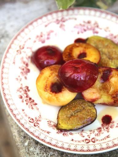 Fruits grillés à la plancha #plancha #fruit #recipe #recette