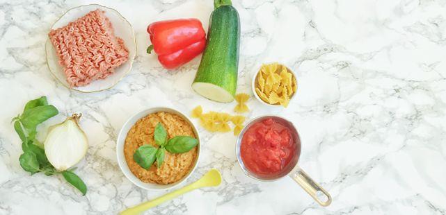 Köttfärsgryta med zucchini