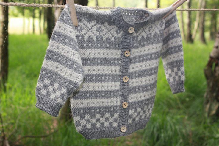 Strickjacken - Baby Strickjacke Norweger Gr.74/80 100% Alpaka  - ein Designerstück von swoondesign bei DaWanda