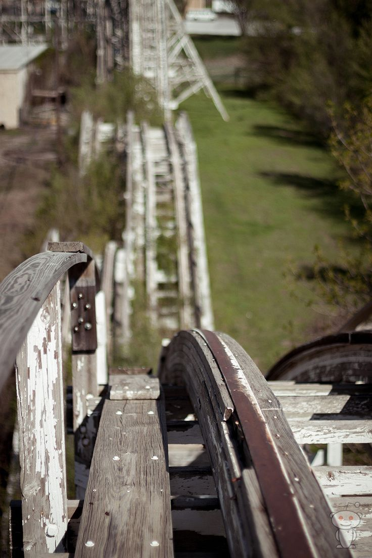 Wooden Roller Coaster at the closed Joyland Amusement Park in Wichita, KS. It is one of the last remaining wooden roller coasters and is designated as an ACE Coaster classic. It was built in 1949 by the Philadelphia Toboggan Company and designed by Herbert Paul Schmeck. The coaster was in continous operation for 55 years. Photo by Brandon Vogt.