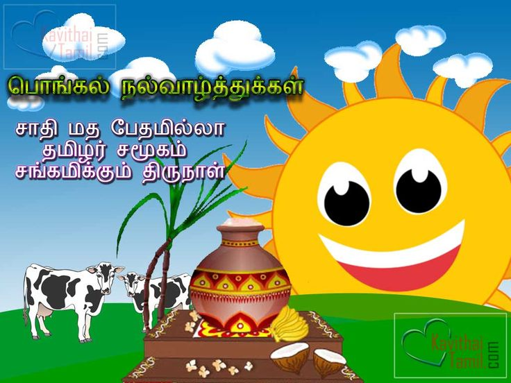 Wishing Pongal Greeting Cards In Tamil Pongal Wishes Tamil Kavithai Hd Wallpapers For Facebook Whatsapp Sharing