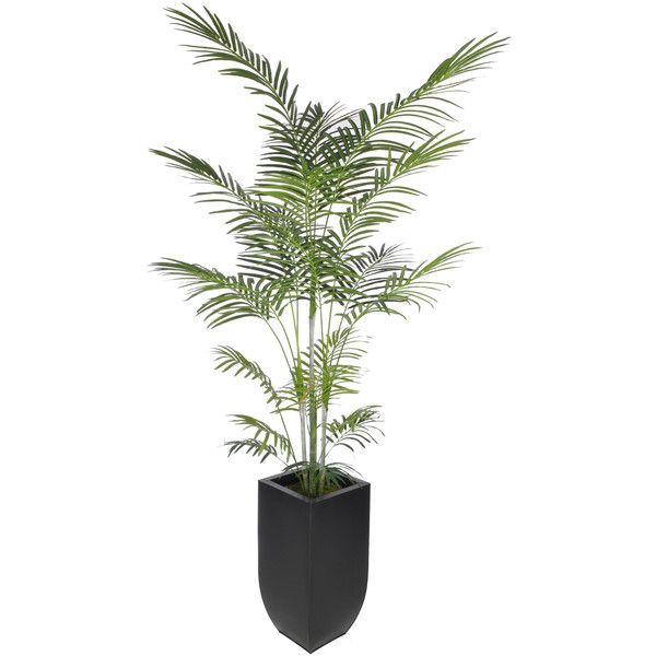 found it at allmodern artificial areca palm tree floor plant in planter
