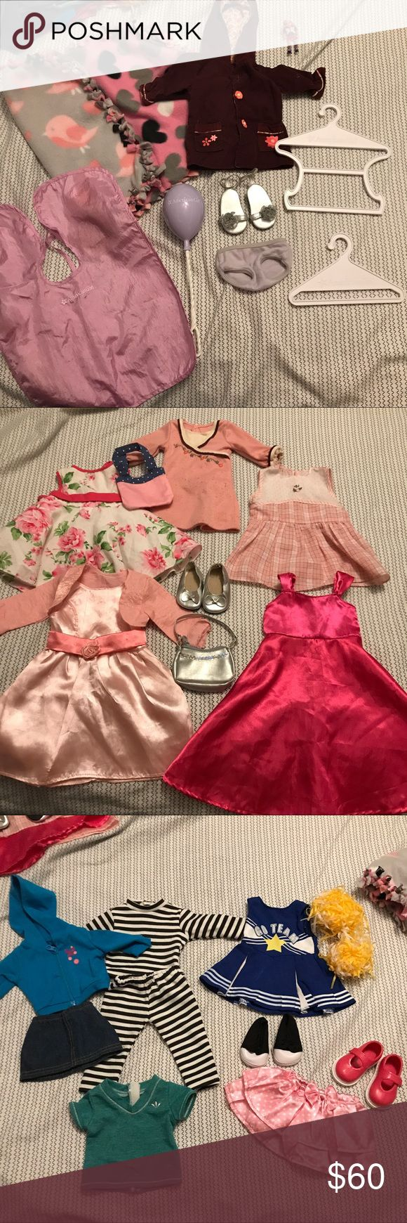 American Girl Doll Clothes and Accessories ♡condition - Good and fair ♡features - Full list of flaws at the bottom 2 pics. The first pic is ag brand stuff, last 3 are battat, fibrecraft, sophia's and dress me up branded. all fit AG size dolls. ♡prices always negotiable ♡all items are cross-posted so grab them fast ♡tags - aesthetic alien grunge vintage 90s dream reality cute kawaii harajuku jfashion japanese fashion american spring summer sun skirt dress short wedding floral trendy boho…