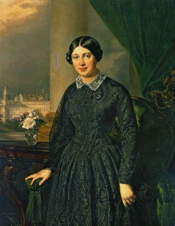 Vasily Tropinin - Portrait of Levitskaya Volkonskaya, 1852