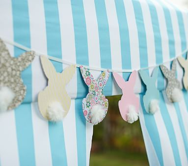 Bunny Garland #pbkids (would be really simple to make with scrapbook paper/cardstock)