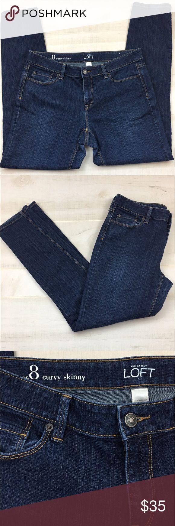 "Ann Taylor loft Skinny Curvy jeans size 8 Loft Skinny Curvy jeans like New size 8. Inseam 29""L LOFT Jeans Skinny"