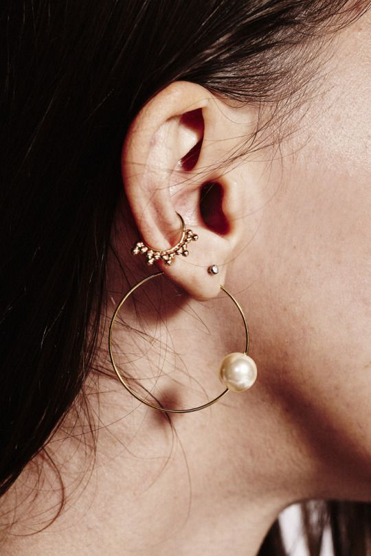 Celine hoop earrings // FOR THE LOVE OF JEWELRY