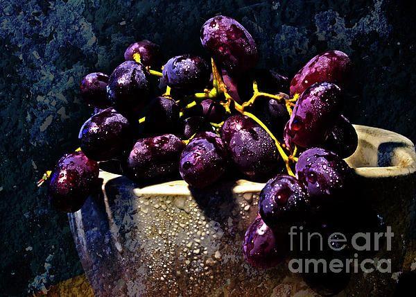 """Purple Grapes"" ...enhanced photographic print..."