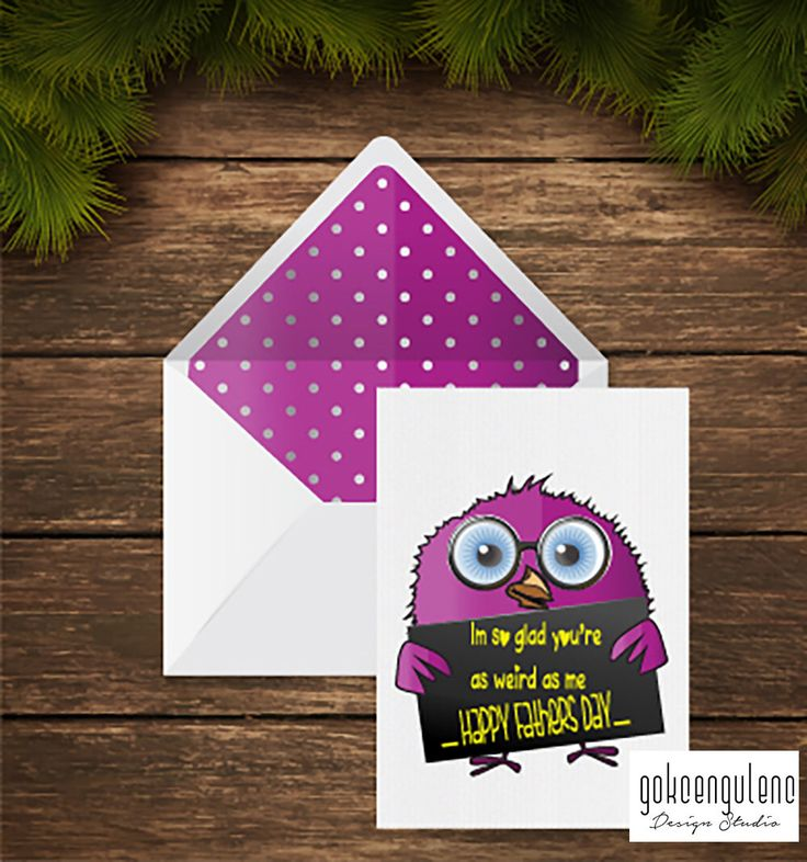 A personal favourite from my Etsy shop https://www.etsy.com/listing/275435864/printable-fathers-day-card-cute-happy
