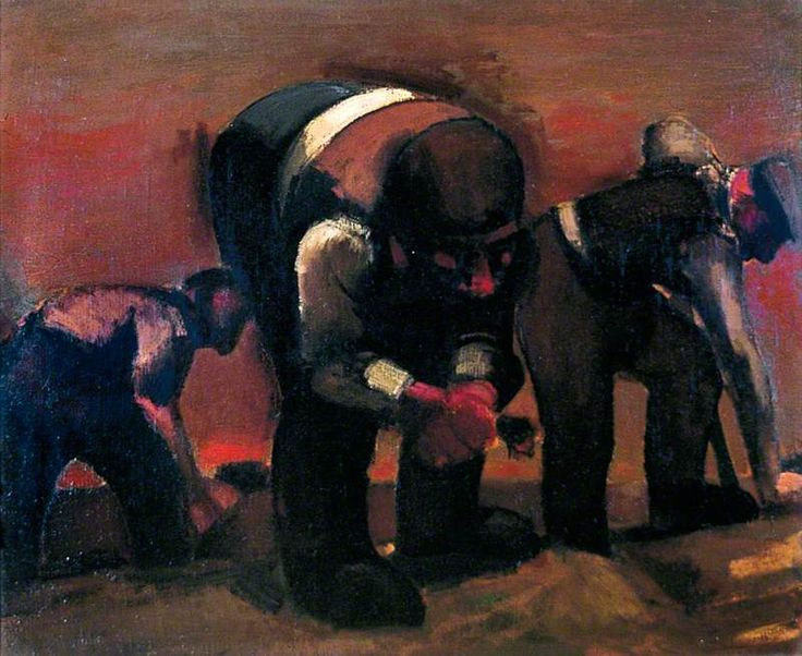 Digging for Roots Artist: Josef Herman Completion Date: 1949 Style: Expressionism Genre: genre painting