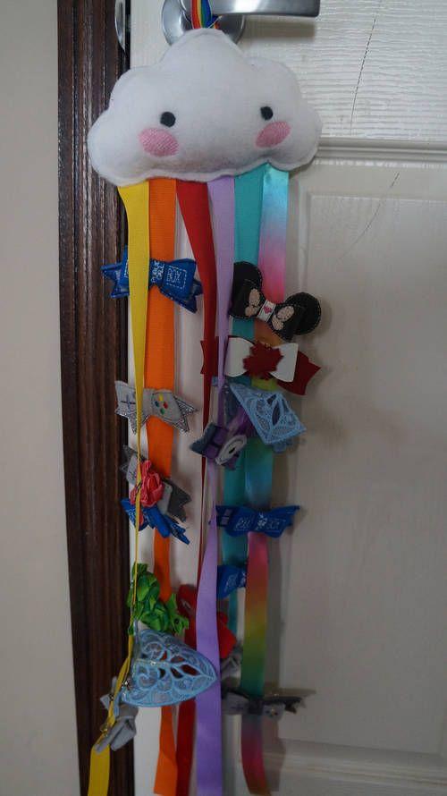 Rainbow Ribbon Hair clip organizer - HOME SWEET HOME