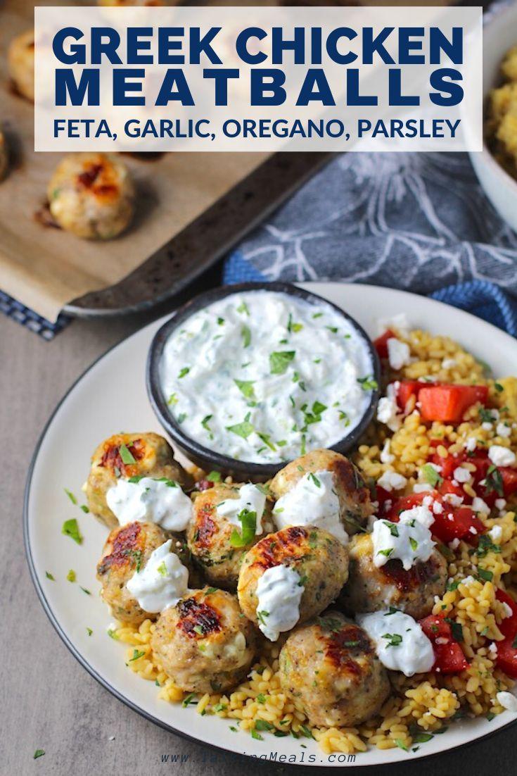 Ground Chicken Greek Meatballs Talking Meals Recipe Ground Chicken Recipes Healthy Ground Chicken Ground Chicken Recipes