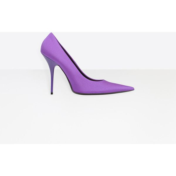 Balenciaga Knife Pump | Purple | Women's Looks Shoes (€545) ❤ liked on Polyvore featuring shoes, pumps, purple shoes, purple pumps, balenciaga shoes and balenciaga