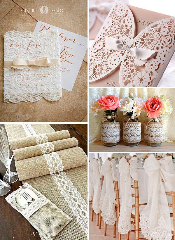 приглашения на свадьбу с кружевом #wedding #decor #lace