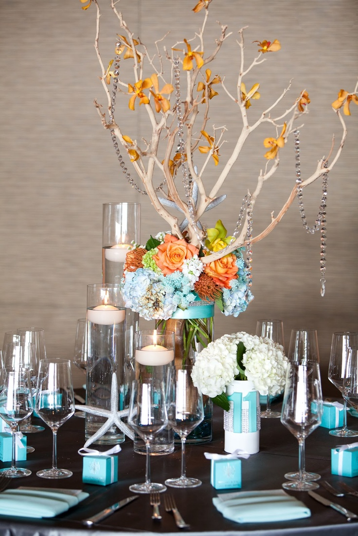 ocean wedding decorations inspired centerpiece wedding ideas 6219
