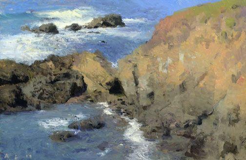 """Ann Lofquist, """"Otter Point II,"""" o/p, 2011, 8 1/2"""" x 13"""""""
