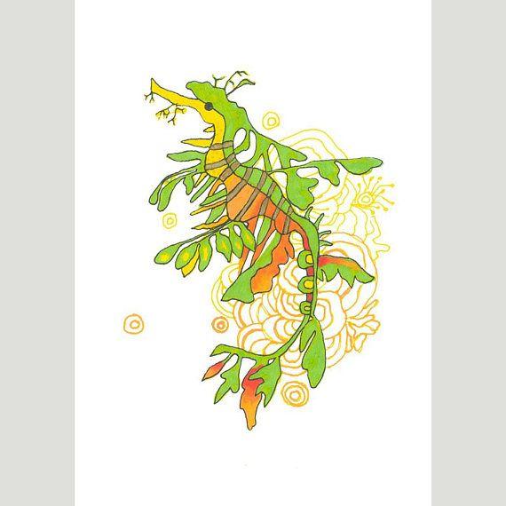 A5 Giclee Print: Leafy Sea Dragon MelanieReevesArt Etsy