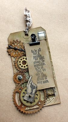 I Skrapovaya 12 tags from Tim Holtz.