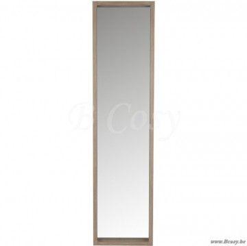 J-Line Rechthoekige spiegel in naturel hout 170H