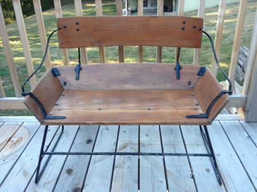 Antique English Horse Drawn Carriage Bench Seat Built By