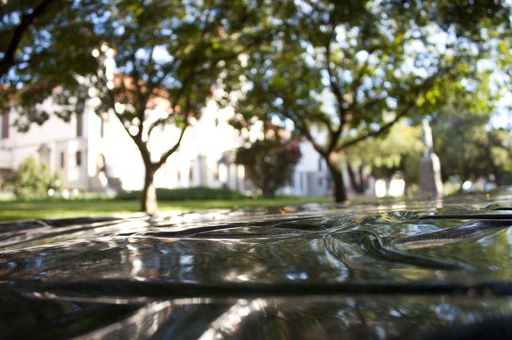 University of the Free State, Bloemfontein Campus, Artwork: Thinking Stone (Photo: Justus Liebenberg)