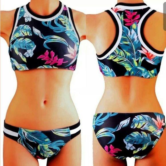 Sporty Girl Bikini Super cute floral sports bikini. Swim Bikinis