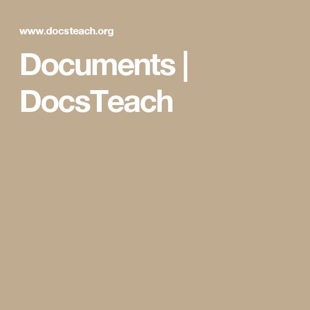 Documents | DocsTeach