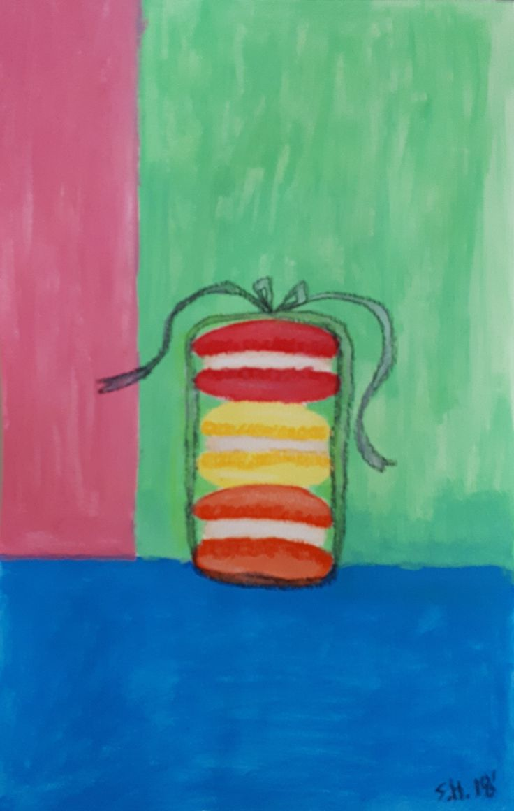 """Macaroon stack in Gouache from Mindy Lacefield """"Mini Gouache"""" lesson"""