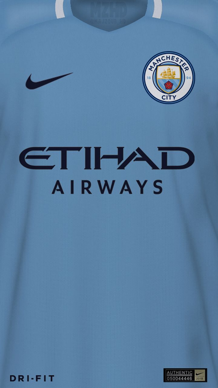 Manchester city home kit wallpaper