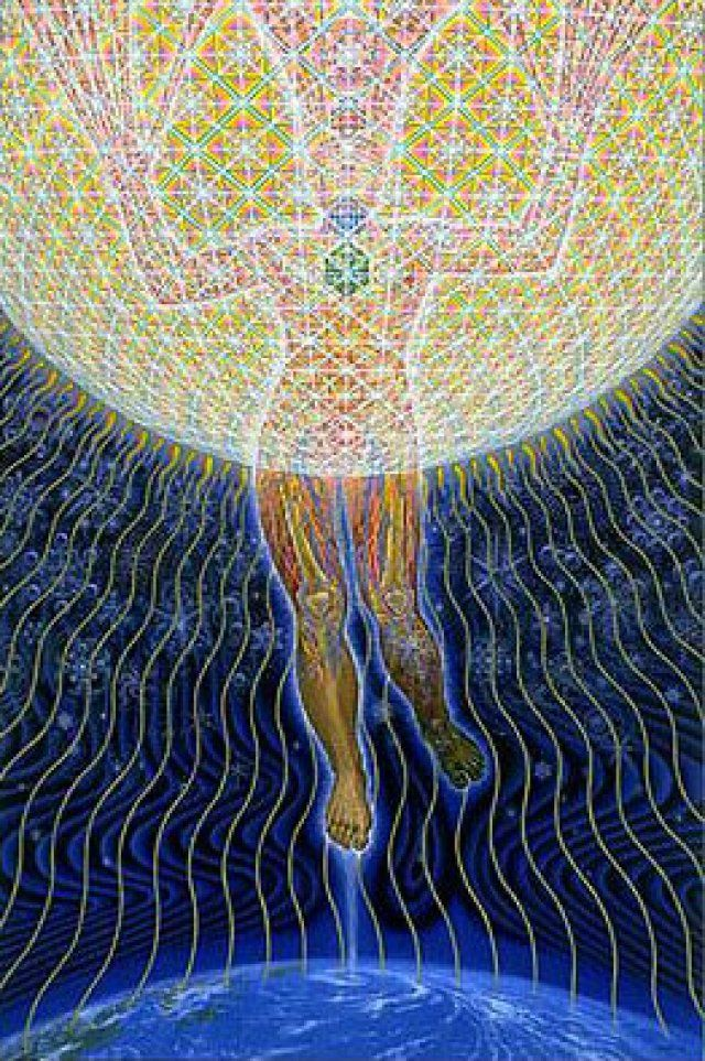 Alex Grey - Transfiguration. I have this poster in my room over my bed.