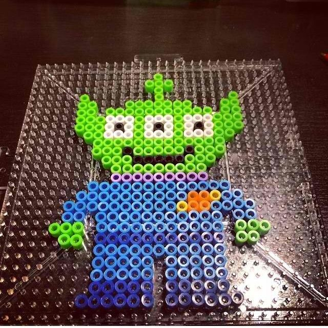 Alien Toy Story perler beads by kandi_life