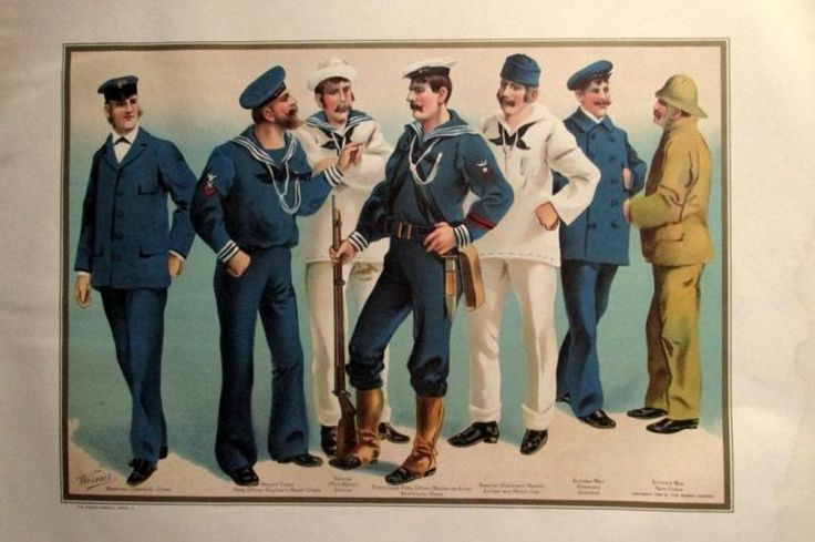 US Navy Uniforms 1899 Seamen & Non Officers
